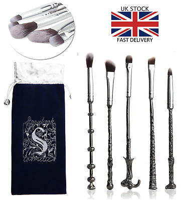 5pcs Harry Potter Magic Wand Metal make up brushes Cosmetic Wizards Makeup Brush