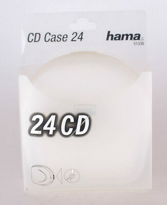 Hama CD-Case 24, Transparent/Rot Hartschalenetui Etui