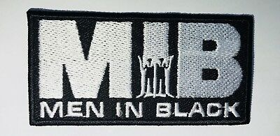 MIB Men In Black Movie Embroidered Badge Iron On/Sew On Clothe Jacket Jeans 350