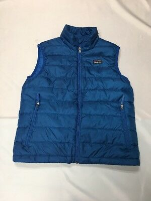 Patagonia M 10 Blue Common Threads Down Vest