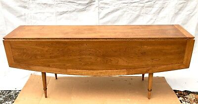 Mid Century Modern Tomlinson Sophisticate Line Long Drop Leaf Dining Table 1950s