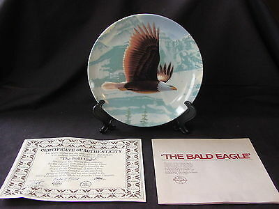 THE BALD EAGLE ~ First Issue The Majestic Bird Collection ~ Plate ~ NIB