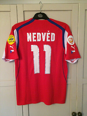 sale retailer d57b9 4aa52 PAVEL NEDVED CZECH Republic Euro 2004 Shirt Calcio Football Jersey Camiseta  (L)