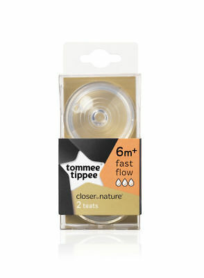 Tommee Tippee Closer to Nature FAST Flow Teats - 6m+