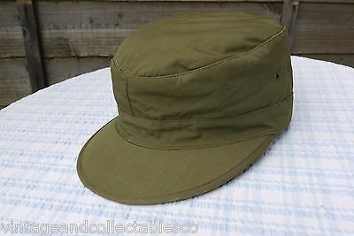 Wwii Us Army Field Cap M-43 M1943 Cotton O.d With Visor Military Rare!