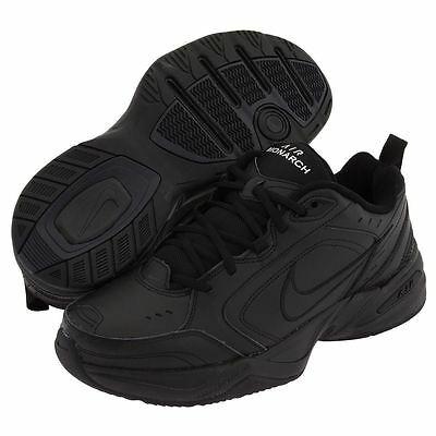 Nike AIR MONARCH IV Mens Black 001 Comfort Lace Up Running Training Shoes