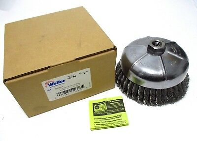 "Weiler 6"" Knot Wire Cup Brush 12376 Single Row .023, 5/8""-11 UNC 6,600 RPM USA"