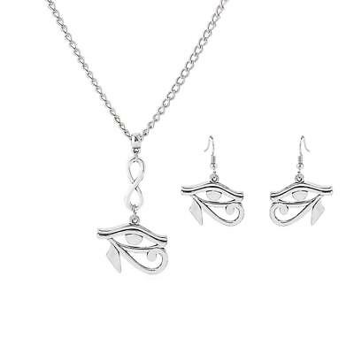 Ancient Egyptian Eye Of Horus Jewelry Set Gift Egypt Necklace Earrings