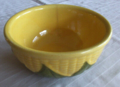 "Shawnee U.S.A. # 6 Corn Bowl 5 3/4"" Diameter 3 1/4"" Tall Has 1 Hair Line Crack"