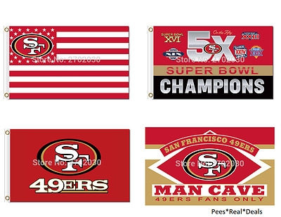 NEW! San Francisco 49ers Flag 3ft x 5ft Polyester Retro 40+Styles Outdoor Indoor