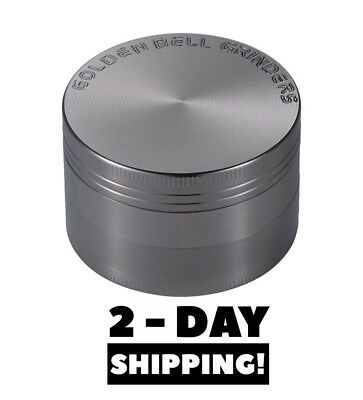 Magnetic Lid Golden Bell Tobacco Grinder  2.0 Inch 4 Piece Spice Herb Crusher