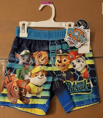 Nickelodeon Paw Patrol Swim Trunks - Boys 3T - New with Tags - FREE Shipping
