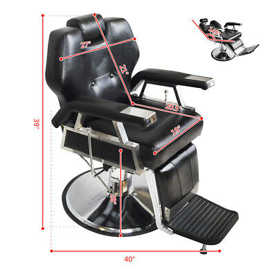 High Quality Professional Hydraulic Reclining Classic Vintage Style Barber Chair