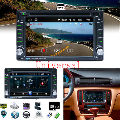 "6.2"" HD 2 DIN Car DVD MP3 Player GPS Navigation + 8G North America Map Card+ RDS"