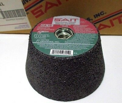 United Abrasives SAIT 26002 Cup Wheel 4x2x5/8-11 CA16 For Metal & Concrete USA
