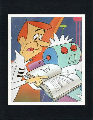 Jetsons - TROUBLE WITH ROSIE, GEORGE CAN FIX IT Professionally Matted PRINT