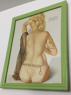 Vintage Alberto Vargas Original Pin-Up Girl Page Playboy Magazine Framed