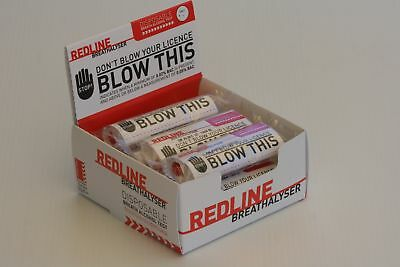 10 x REDLINE BREATHALYSER: DISPOSABLE BREATH ALCOHOL TEST: CERTIFIED PRODUCT