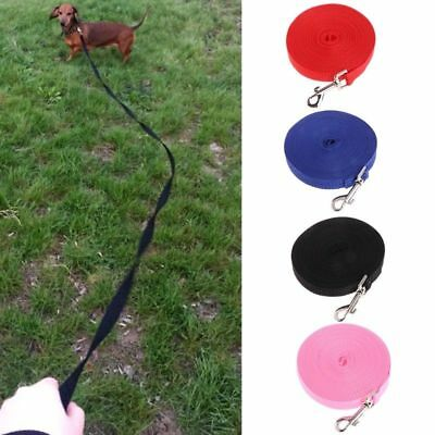 1.5/6/10/15M Pet Dog Lead Leash Long Nylon Strap Rope Obedience Training Walking