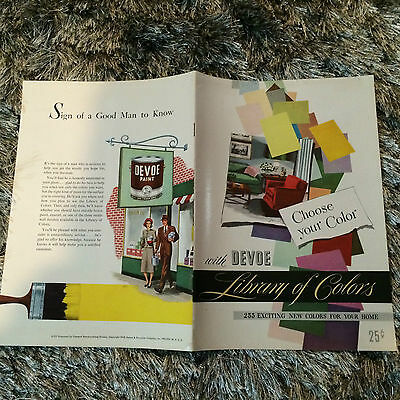 Devoe & Raynolds Co 1948- Library Of Colors Vintage Booklet Choose Your Color