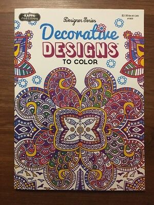 DECORATIVE DESIGNS TO Color Adult Coloring Book New
