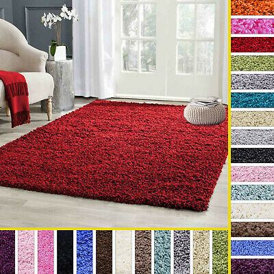 Small X Large Shaggy Area Rugs Mat 5cm Thick Soft Pile Modern Carpet Rug Mats