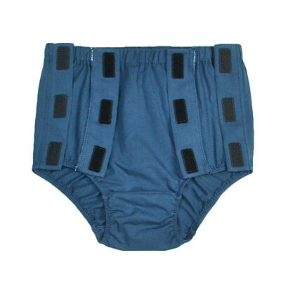Blue Men Reusable Incontinence Cotton Underwear for Elder Patient Disability