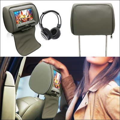 "7""Car Headrest Monitors DVD Player/USB/IR Remote/FM/AV/SD Headphone With Headset"