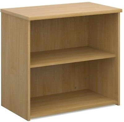 Standard bookcase 740mm high in oak