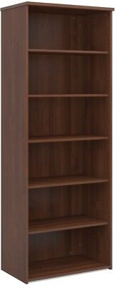 Standard bookcase 2140mm high in walnut