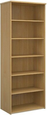Standard bookcase 2140mm high in oak