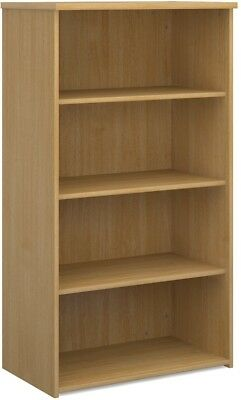 Standard bookcase 1440mm high in oak