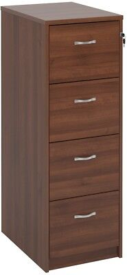 Deluxe executive four drawer filing cabinet in walnut