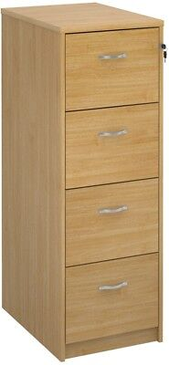 Deluxe executive four drawer filing cabinet in oak