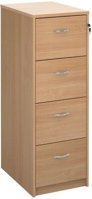 Deluxe executive four drawer filing cabinet in beech