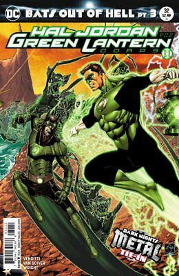 Hal Jordan & The Green Lantern Corps Issue 32 - Dark Nights Metal Tie-In Cover A
