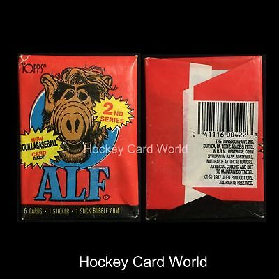 (HCW) 1987 Topps ALF Series 2 Hobby Pack - 5 Trading Cards + 1 Sticker + Gum