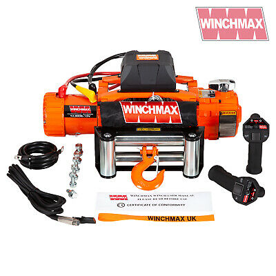 Electric Winch 12000lb Two Speed 12V Wire Rope - WIRELESS FEATURE - FAST WINCH