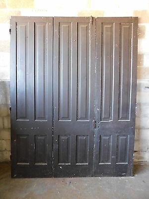 Antique Victorian Triple Folding Swing French Doors - 1870 Architectural Salvage