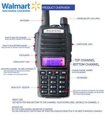 Walkie Talkie Radio compatible with RDM2070d Programmed for Walmart channels