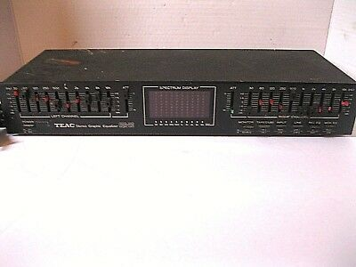 TEAC Stereo Graphic Equalizer EQA-20 untested sold as is parts or repair