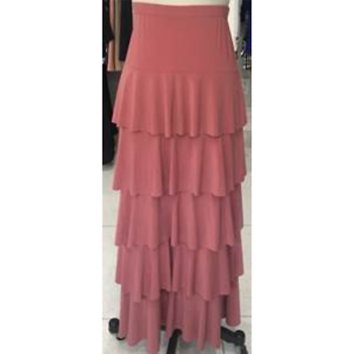 Five Layer Maxi Skirt in Rose