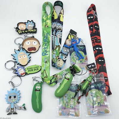 Rick and Morty Neck Lanyard Strap Cell Phone Rope KeyChain Camera Lanyards Gifts