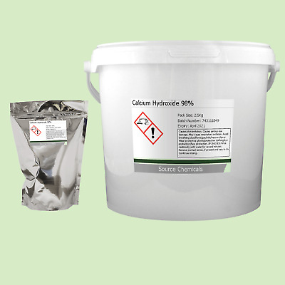 Calcium Hydroxide 98% 100g to 2.5Kg