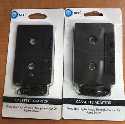 Lot Of 10 Onn Auto Car Cassette Adapter For iPhone Smartphone MP3