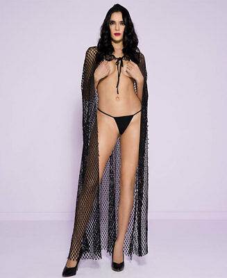 Fishnet Cape With Attached Hood - Music Legs 53007