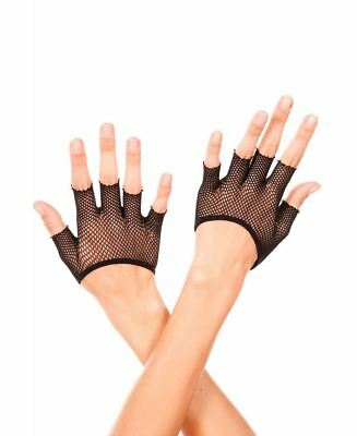 Short Fishnet Fingerless Gloves - Music Legs 434