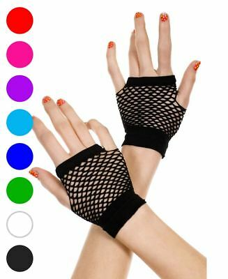 Fingerless Thick Fishnet Gloves - Music Legs 478