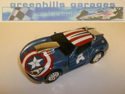 Greenhills Carrera Go!!! Marvel Comics Captain America - 1:43 SCALE - NEW  - ...