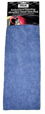 MLH Car Professional Detailing Microfibre Towel - Twin Pack 64MLH806 Free Shippi